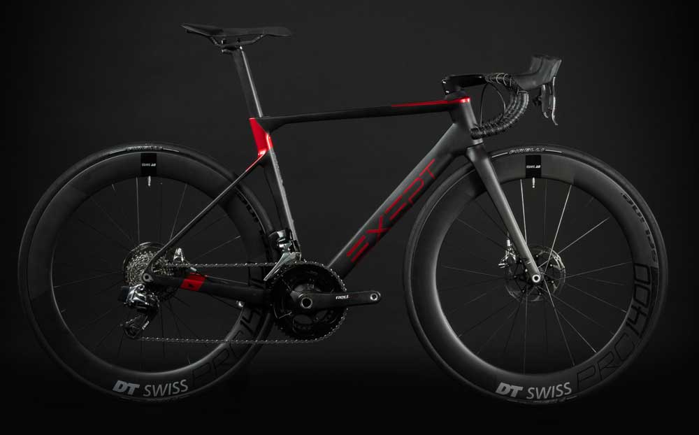 BIKE1 EXEPT VELO DE PERFORMANCE MONOCOQUE INTEGRATED ROUGE 0