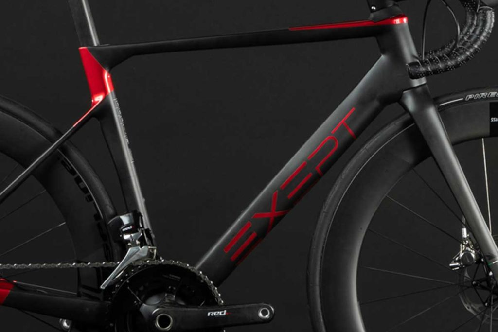 BIKE1 EXEPT VELO DE PERFORMANCE MONOCOQUE INTEGRATED ROUGE 2