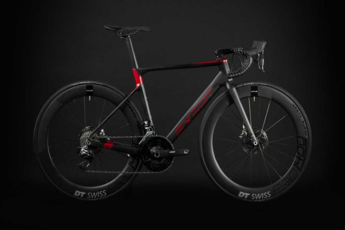 BIKE1 EXEPT VELO DE PERFORMANCE MONOCOQUE INTEGRATED ROUGE
